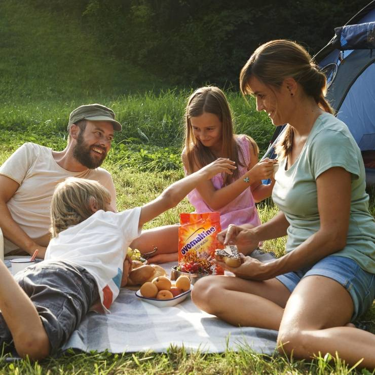 Familie am Picknicken