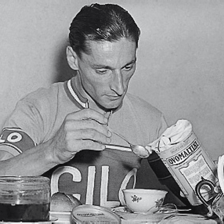 Ferdy Kübler with Ovomaltine