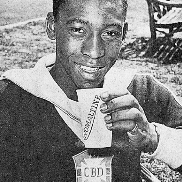 Pelé with Ovomaltine